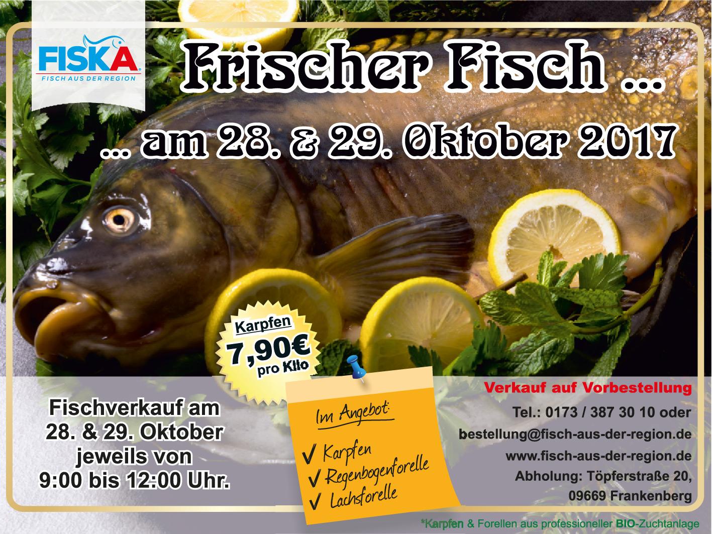 fiska fischverkauf f r chemnitz und umgebung frischer fisch aus bioaufzucht. Black Bedroom Furniture Sets. Home Design Ideas